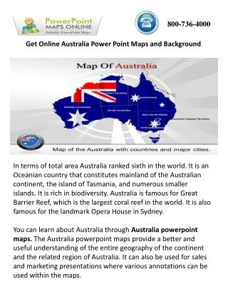 Get Online Australia Powerpoint Maps and Background