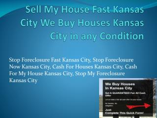 Cash For Houses Kansas City
