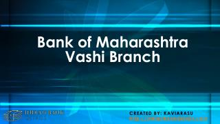Bank of Maharashtra Vashi Branch
