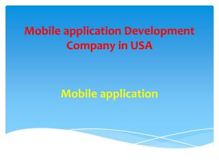 mobile application development company in USA