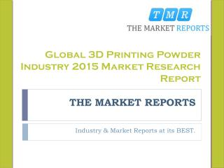 Global 3D Printing Powder Market Forecast to 2021, Competitive Landscape Analysis and Key Companies Market Forecast Repo