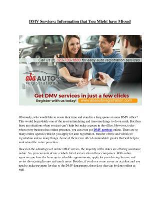 Online DMV Services