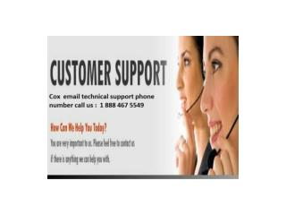 cox email 1 888 467 5549 technical support phone number