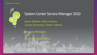 System Center Service Manager 2010