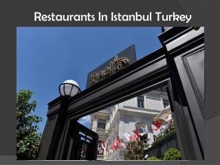Restaurants in istanbul turkey