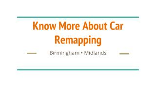 Know More About Car Remapping