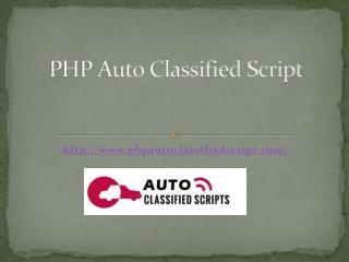 PHP Auto Classified Script