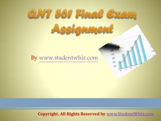 QNT 561 Final Exam 100% correct Answers