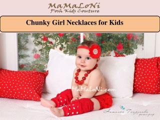 Chunky Girl Necklaces for Kids
