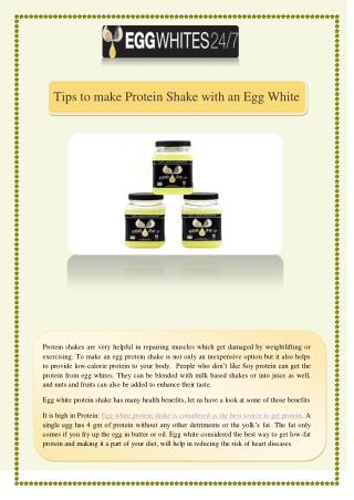 Tips to make Protein Shake with an Egg White