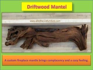 Driftwood Mantel