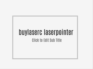 Sicherheit von Laserpointer