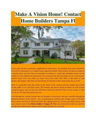 Home builders tampa fl -  javic homes