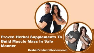 Proven Herbal Supplements To Build Muscle Mass In Safe Manner