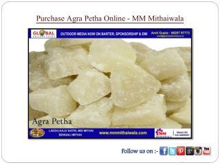 Purchase Agra Petha Online - MM Mithaiwala