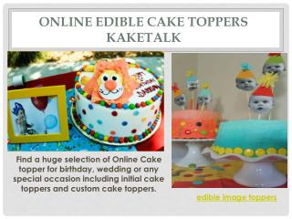 Online Edible Cake Toppers