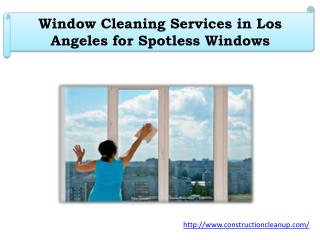 Window Cleaning Services in Los Angeles for Spotless Windows