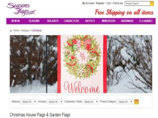 Buy Christmas House Flags & Garden Flags