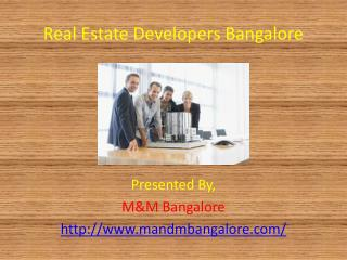 Real Estate Developers Bangalore