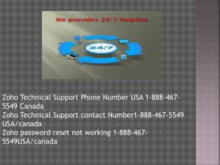 1-888-467-5549 Zoho Customer Support Phone Number USA/Canada is the best technical support service