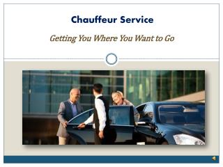 Benefits of Hiring a Chauffeur Service