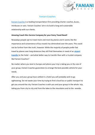 Charter Coaches, Buses | Coach Hire Services