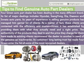 Tips to Find Kia Auto Part Dealers Online