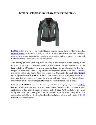 Leather jackets the must have for every wardrobe