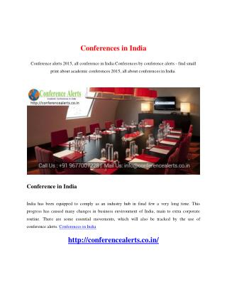 Conferences in India