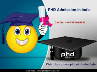 PhD Admission in India @ 7533-00-7534