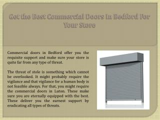 Get the Best Commercial Doors in Bedford for your Store