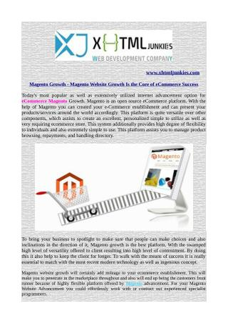 Magento Growth - Magento Website Growth Is the Core of eCommerce Success