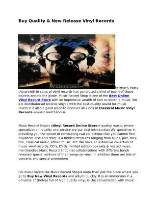 Vinyl Record Online Store