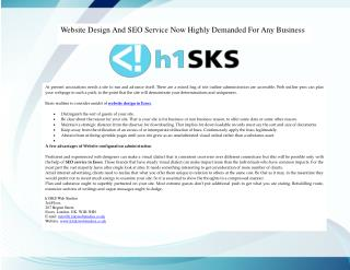 Website Design And SEO Service Now Highly Demanded For Any Business