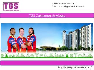 TGS Constructions Customer Feedbacks