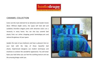 Caramel Collection Bed Sheet
