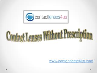 Get Contacts without Prescription Online