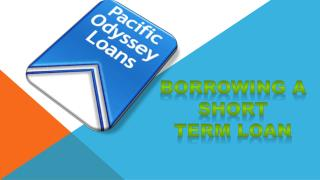 Borrowing a Short Term Loan