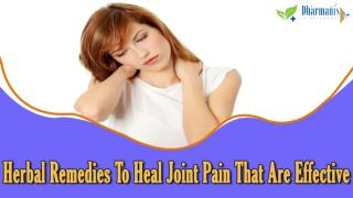 Herbal Remedies To Heal Joint Pain That Are Effective