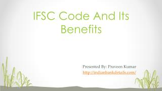 IFSC code for all Branches
