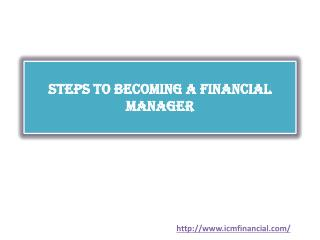 Steps to Becoming a Financial Manager