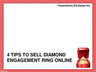 4 Tips to Sell Diamond Engagement Ring Online