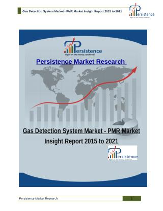 Gas Detection System Market - PMR Market Insight Report 2015 to 2021