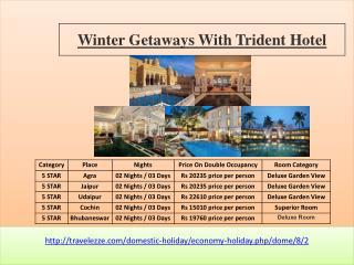 Winter Getaways with Trident Hotel