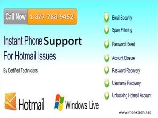 Hotmail tollfree phone 1-877-788-9452 number for Support