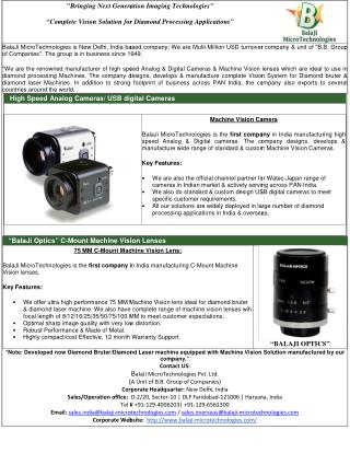 LINE SCAN CAMERA | MACHINE VISION LENS | MACHINE VISION