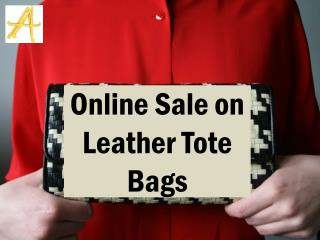 Online Sale on Leather Tote Bags