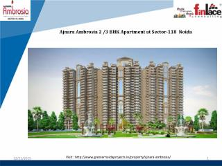 Ajnara Ambrosia 2 BHK Aparment at Sector-118 Noida