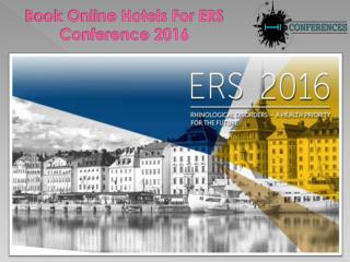 Book Hotels For ERS Conference 2016