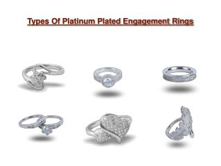 Types Of Platinum Plated Engagement Rings